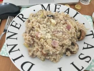 19. Leek and mushroom risotto