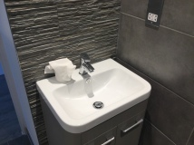 6. First flat bathroom sink