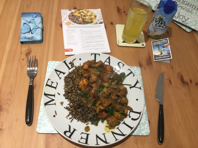 25. Indian chicken curry with wild rice