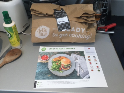 3.Burger bag and card