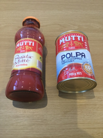 5. Mutti passata and tomatoes