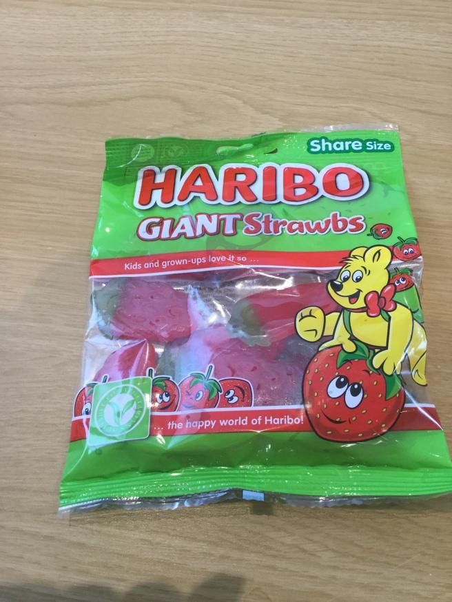 8. Haribo Giant Strawbs
