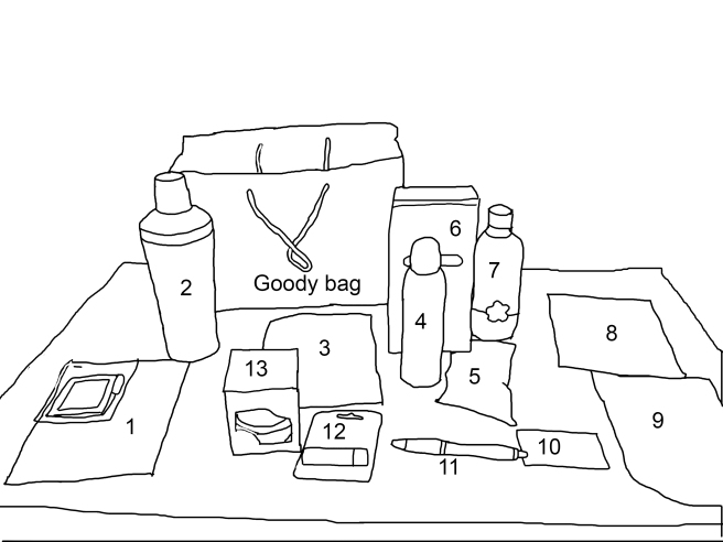 Goody bag outline pic