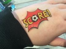 Score tattoo
