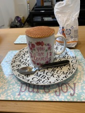 Stroopwafel on coffee