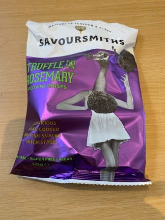 Savoursmiths Truffle and Rosemary Crisps 1