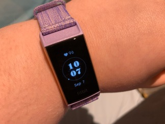50. Fitbit Charge 3 lavender