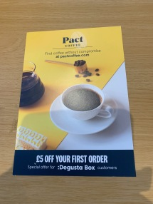 Pact Coffee flyer 1