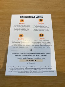 Pact Coffee flyer 2