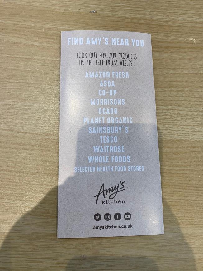 Amy's Kitchen Leaflet 4