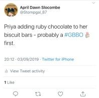 Priya Tweet 1