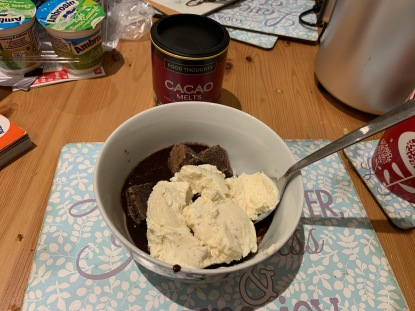 Brownies, Ice Cream, Choc Sauce
