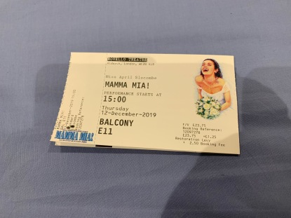 23. Original Mamma Mia ticket