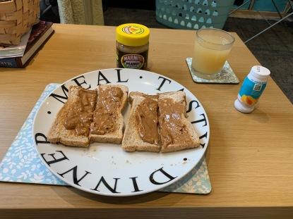 Marmite PB on Toast